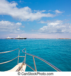 Illetes Illetas Formentera yacht sailboats anchored in...