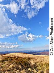 Bieszczady mountains - Autumn landscape of Bieszczady...