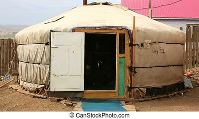 Mongolian Ger at Ulaanbaatar Suburbs - Poor households in...