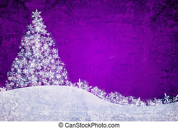 Christmas background - Purple christmas background with...