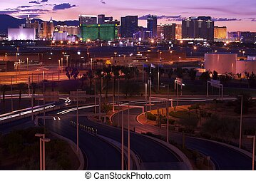 Vegas Illumination - Las Vegas Skyline, Nevada, USA American...