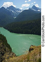 Diabo Lake North Cascades - Diabo Lake in North Cascades,...