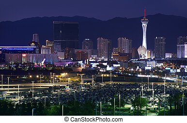 Downtown Las Vegas, Nevada, USA Vegas at NIght Sleepless...
