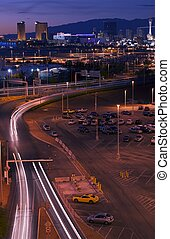 Las Vegas Lights After Sunset Vertical Vegas Photography...