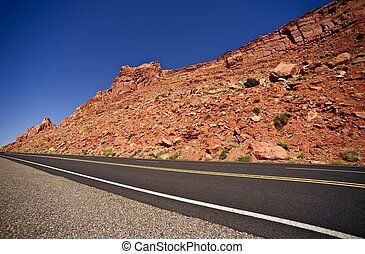 Arizona Highway 89 Through Navajo People Lands. Arizona...