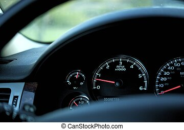 Car Dash RPM (Rotation Per Minute), Oil Temperature, Fuel...