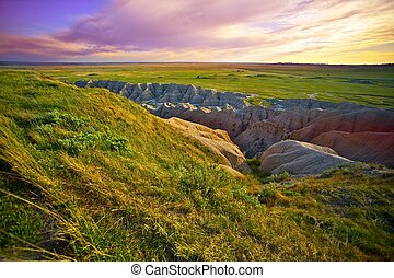 South Dakota Landscape. South Dakota, USA. Prairies and...