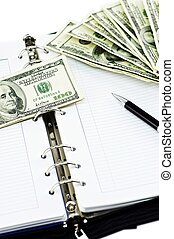 Scheduling Payments. Business Related Vertical Photography...