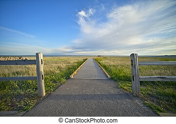The View Point - South Dakota Badlands National Park View...