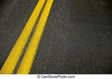 Road Pavement Backdrop - Black Road Pavement with Yellow...