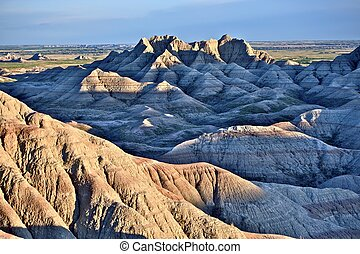Badlands - South Dakota Badlands Landscape -Badlands Summer...