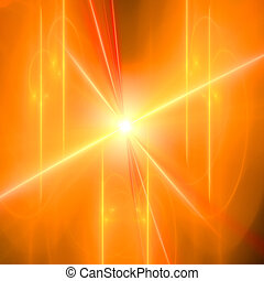 Abstract background. Orange - yellow palette. Raster fractal...