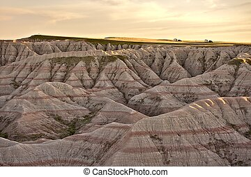 Badlands - Scenery of South Dakotas Badlands National Park....