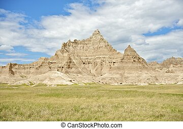 Badlands National Park South Dakota Badlands near Pine Ridge...