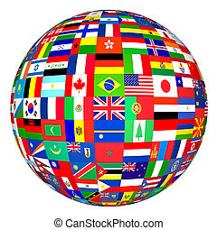 World Flags - Globe flags of the world