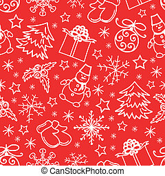 Christmas seamless pattern abstract