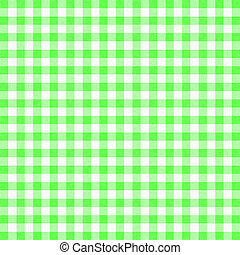 Gingham background - green gingham tablecloth background or...