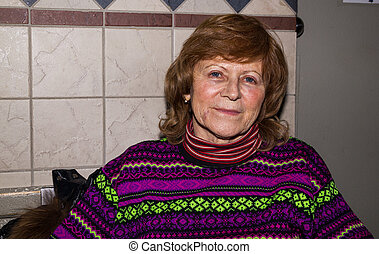 Portrait of a happy senior woman
