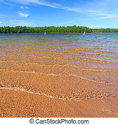 Northwoods Swimming Beach - Beautiful swimming beach of a...