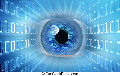 Vision of the future - Concept of information. The eye...
