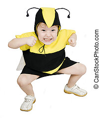 Bee - Cute little girl in bumble bee costume.