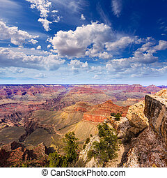 Arizona, Grandiose, canyon, Parc, mère, Point,...