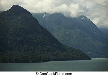 British Columbia Fjords Landscape. British Columbia, Canada....