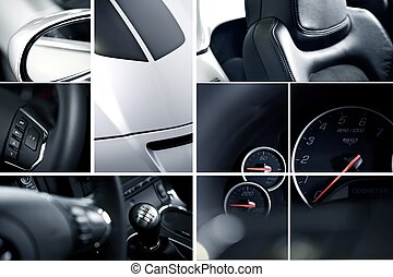 Exotic Cars Mosaic - Modern Cars Mosaic - Studio Photography...
