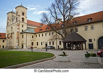 Abbey in Tyniec, Poland. The Benedictine Abbey Built...
