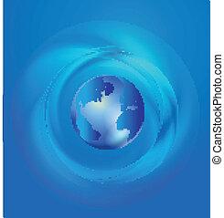 World Global Commerce communication logo vector