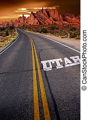 Welcome in Utah - Trip to Utah. Utah State Rocky Sandstones...