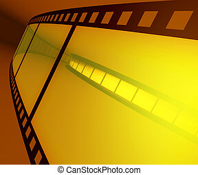 Filmstrip - Concept of Industry cinematographic