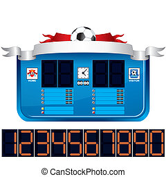 Soccer Scoreboard. Vector Ready for Your Text