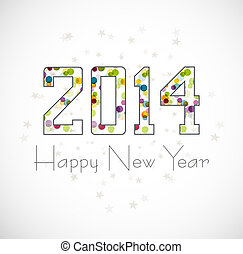 Beautiful celebration Happy new Year 2014 illustration...
