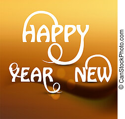 Happy new Year stylish beautiful text design vector