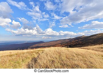 Autumn mountains - Autumn landscape of Bieszczady mountains...