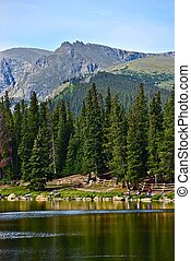 Scenic Colorado Echo Lake Landscape in Vertical Photography....