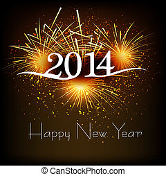 Greeting card 2013 happy New Year celebration background...