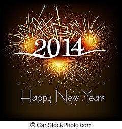 Greeting card 2013 happy New Year celebration background...