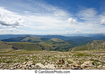 Colorado Panorama - Rocky Mountains. Colorado USA. Picture...
