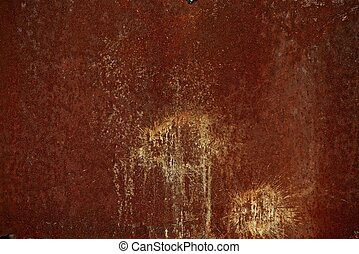Reddish Rusty Metal Texture. Backgrounds Collection.