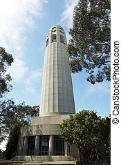 Telegraph Hill Tower - Telegraph Hill, San Francisco,...