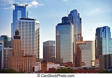 Minneapolis Skyline - Minneapolis Downtown Architecture....