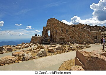 Crest House Mt Evans. Building Ruins Located at the Summit...
