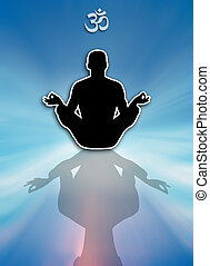 Man in yoga meditation