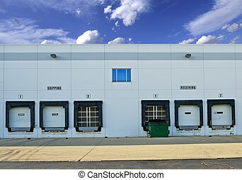 Shipping and Receiving Storage Warehouse Gates. Logistics...
