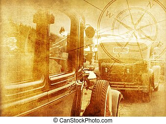 Oldtimers Background - Classic Cars Vintage Background....
