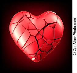 breaked heart vector illustration eps8