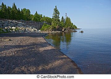 Lake Superior Shore - Lake Superior Western Shore. Northern...