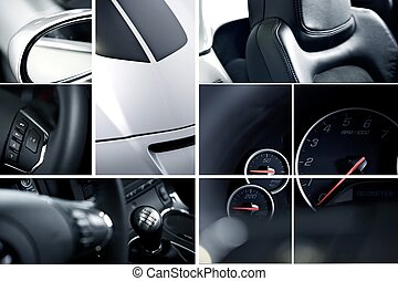 Exotic Cars Mosaic - Modern Cars Mosaic Collage - Studio...
